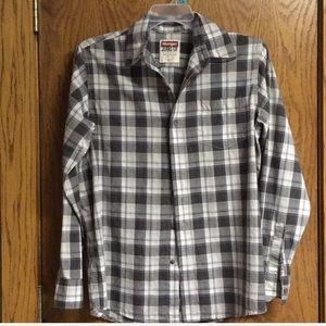 Wrangler Western plaid button down shirt